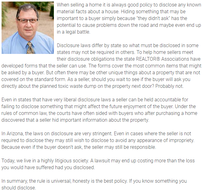 Agent Insights - Don't ask don't tell doesn't apply to real estate