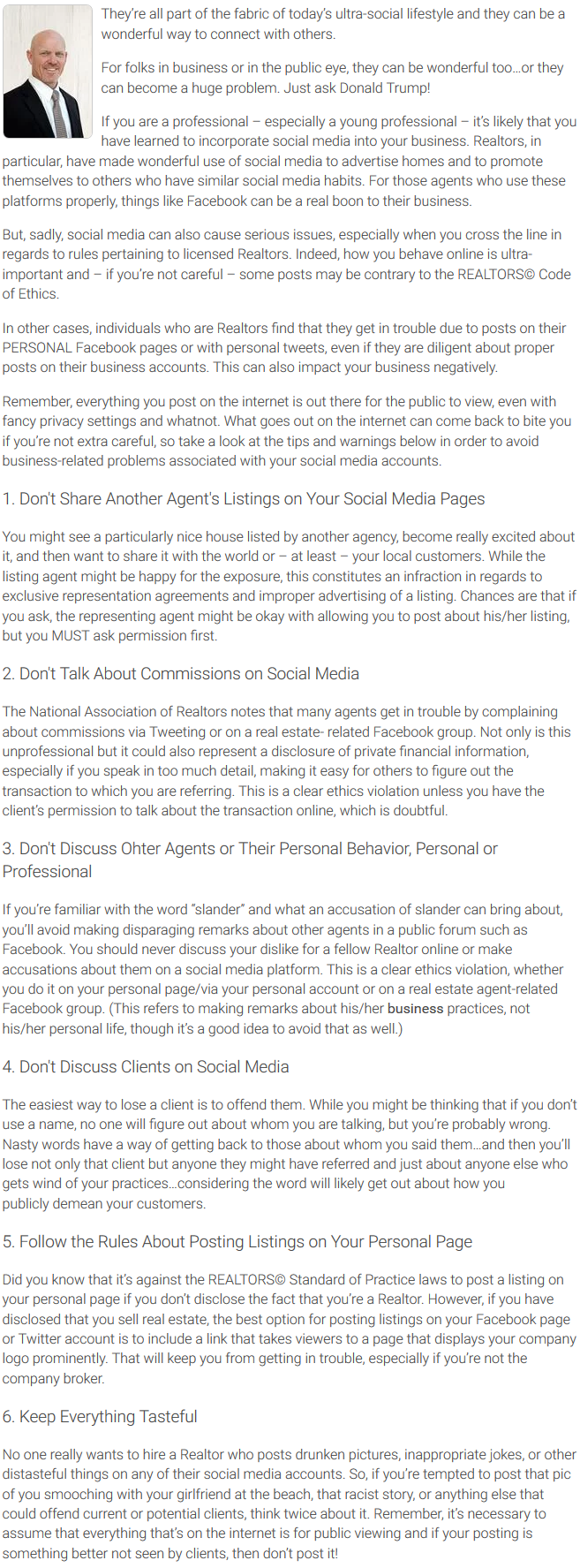 Agent Insights - Social Media and Today's REALTOR®