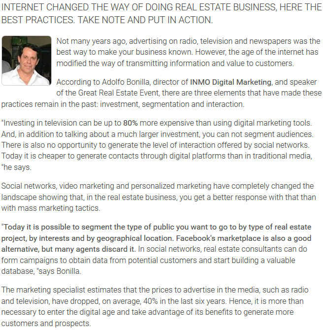 Agent Insights - The 6 best digital real estate marketing practices 1