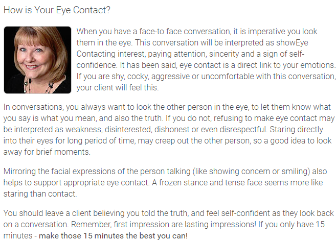 How is Your Eye Contact