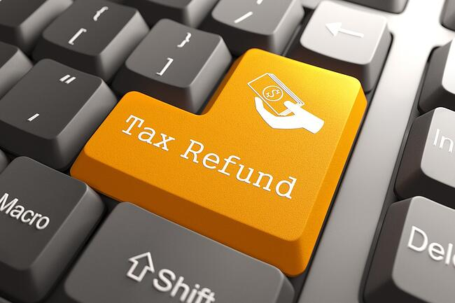 Tax Refund - Orange Button on Computer Keyboard. Internet Concept..jpeg