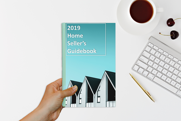 hand holding 2019 home sellers guidebook